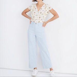 Madewell Slim Emmett Wide-Leg Crop Jean Pants 27